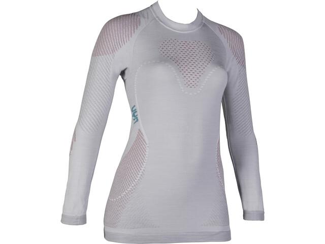 UYN Fusyon UW LS Shirt Damen light grey/salmon/purple